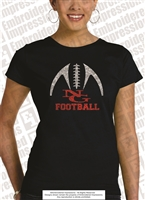Glittered NG Football for Family Tee