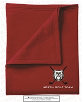 North Gwinnett Bulldogs Golf Embroidered Stadium Blanket