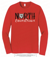 North Bulldogs Equestrian Long Sleeve Tee