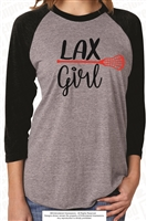 LAX Girl Color Block Quarter Sleeve Raglan