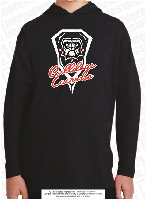Girl Bulldog With Goggles Hoodie