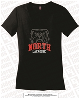 Bulldogs Lacrosse Ladies V-Neck Tee