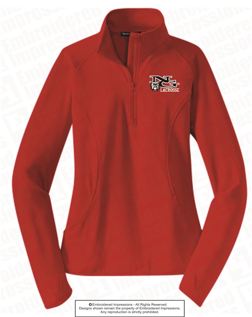 Ladies 1/4 Zip Polyester Jacket