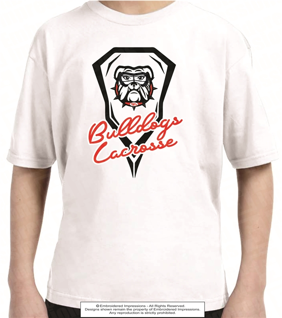 All Cotton Bulldogs Lacrosse Tee