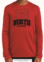 North Bulldog Lacrosse Long Sleeve Dri-Fit Tee