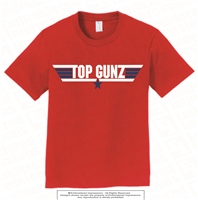 Top Gunz Cotton Tee in Red