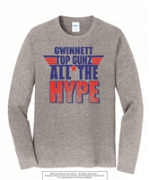 All The Hype Long Sleeves Tee in Athletic Heather