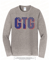 GTG Cotton Long Sleeves Tee in Athletic Heather