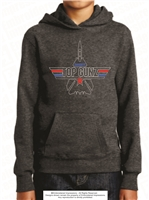 Puff Embroidered Hoodie with Embroidery in Grey