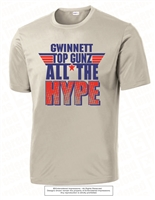 All The Hype Dri-Fit  Tee in Silver