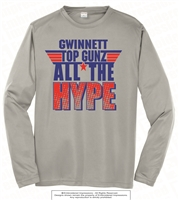 All The Hype Dri-Fit Long Sleeves Tee in Silver
