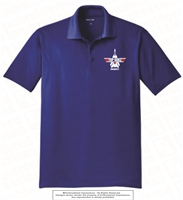 Embroidered Logo Polo in Royal