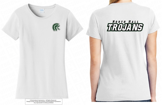 Double Sided North Hall Trojans Tee
