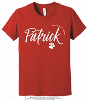 Cursive Patrick Cotton Tee in Red