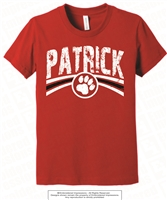 Distressed Design PATRICK Tee in Red