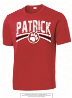 Distressed Design PATRICK Dri-Fit Tee in Red