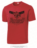 Sublimation Design PATRICK Dri-Fit Tee in Red