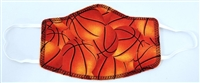 Youth Two Ply Cotton Basketball Pattern Face Covering