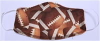 Two Ply Cotton Football Pattern Face Covering