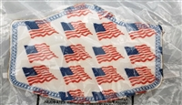 Small Two Ply Cotton US Flag Face Covering