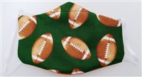 Small Two Ply Cotton Football Face Covering