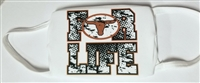 Lanier Longhorns Three Ply Poly Face Mask