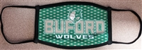 Small Buford Wolves Checkered Three Ply Mask