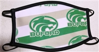 Buford Green Gold Circle Wolf Mask Three Ply Mask