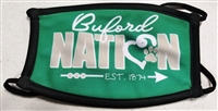 Small Buford Nation Three Ply Mask