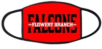 Small Flowery Branch Falcons Three Ply Mask