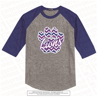 Chevron Patterned Lions Paw Colorblock Jersey