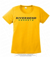 Glittered Horizontal Riverbend Hornets Logo Tee