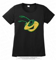 Huge Glittered Hornet Head Logo Tee