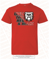 Own the Red & Black Tee in Red