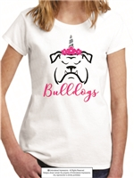 Bulldogs Unicorn Horn Tee