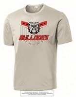 Stars Bulldogs Dri-Fit Short Sleeves Tee in Silver