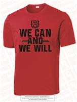 We Can We Will Dri-Fit Tee in Red