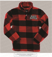 Roberts Bulldogs Sherpa 1/4 Zip in Red and Black