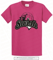Swish Basketball Player Tee