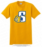 S Bobcats Face Cotton Tee