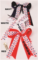 WLA Toros Patterned Hair Bow