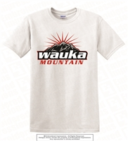 Wauka Mountain Sun Logo Cotton Tee