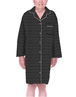 Dignity pajamas LS101-Mens Cotton Long sleeve adaptive open back hospice patient gown sleepwear