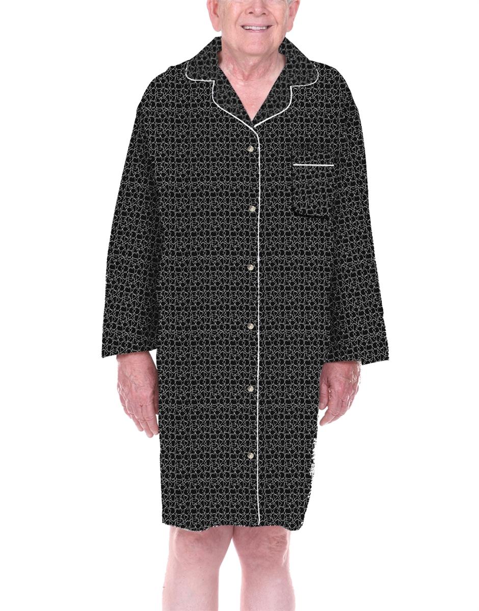 7895a8498e Mens 100 percent cotton adaptive sleepwear