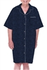 Dignity pajamas SS103 Mens Cotton Short sleeve adaptive open back hospice patient gown night shirt