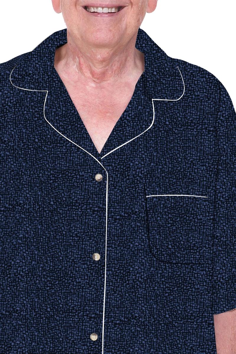 Mens 100 percent cotton adaptive sleepwear, hospice pajama,hospice ...