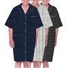 Home Care Line Dignity pajamas Mens 3-PACK MULTI Luxury Cotton Short sleeve open back pajamas with velcro closures