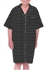 Home Care Line Dignity Pajamas SS105 Mens Black Luxury Cotton Short sleeve open back pajamas with adaptive velcro closures patient gown sleepwear
