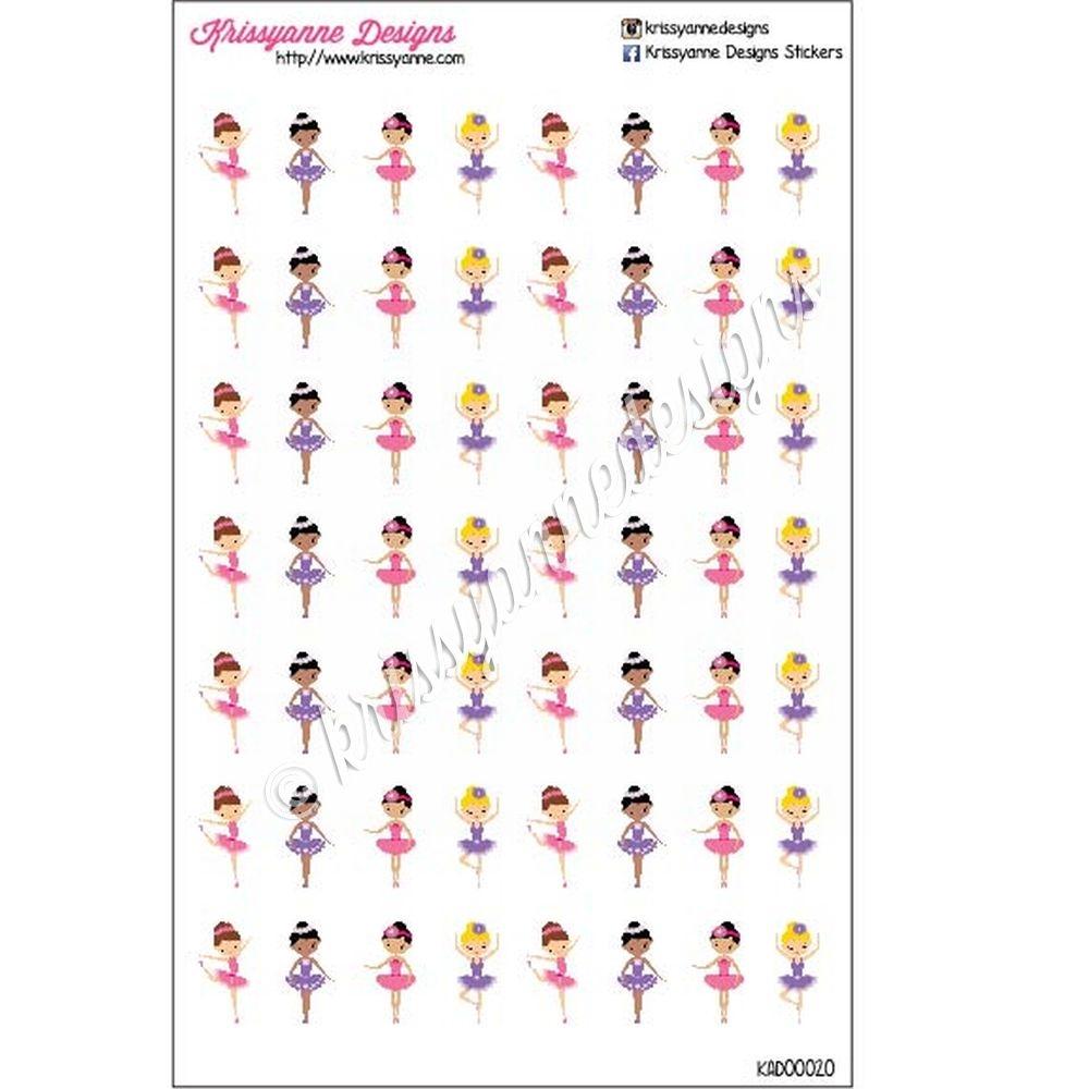 ballet icon stickers set of 56