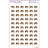 Nurse Head Cutout Stickers - Set of 60